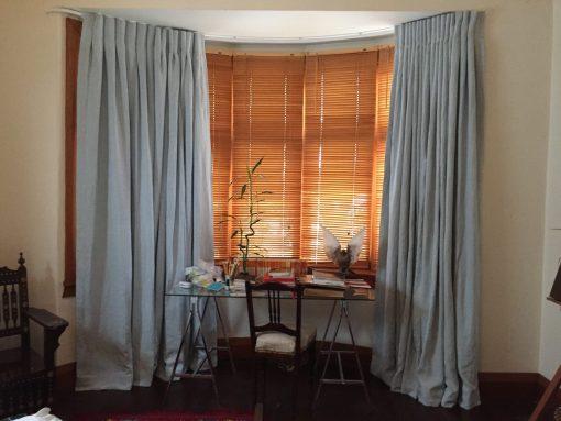 Estiva Linen Dusty Blue Curtains