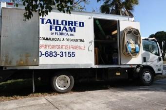 Tailored Foam truck