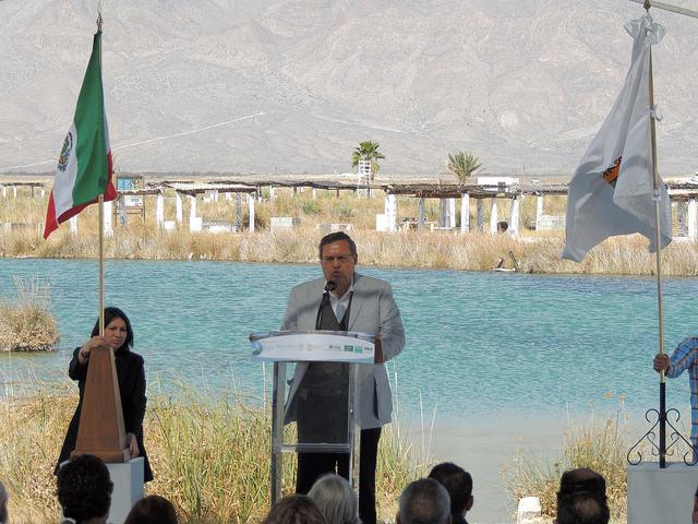 Luis Fueyo en la celebración del Día de los Humedales en Cuatrociénegas. Foto: Semarnat