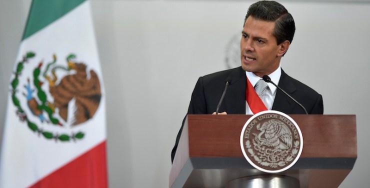 Enrique Peña Nieto en su Segundo Informe de Gobierno. Foto: Presidencia de la República