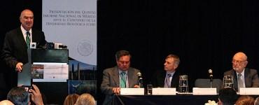 Juan José Guerra Abud presentó el Quinto Informe de Diversidad Biológica. Foto: Semarnat