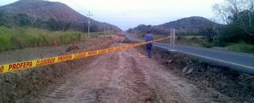 Clausura de la carretera 200 por la Profepa en la Costa de Jalisco. Foto: Profepa