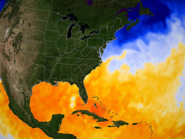 Golfo de México. Imagen difundida por CICESE