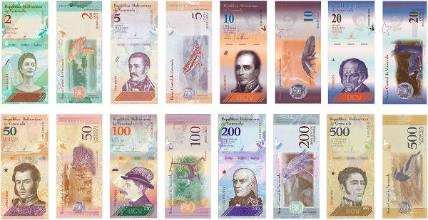 Nuevos billetes en Venezuela