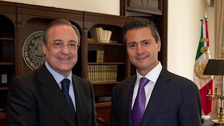 Florentino Pérez y Enrique Peña Nieto