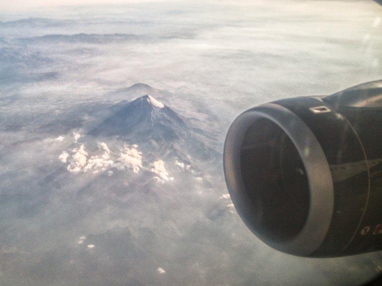 Deshielo del glaciar Janapa en el Pico de Orizaba, México. Foto: Sergio Hernández Márquez