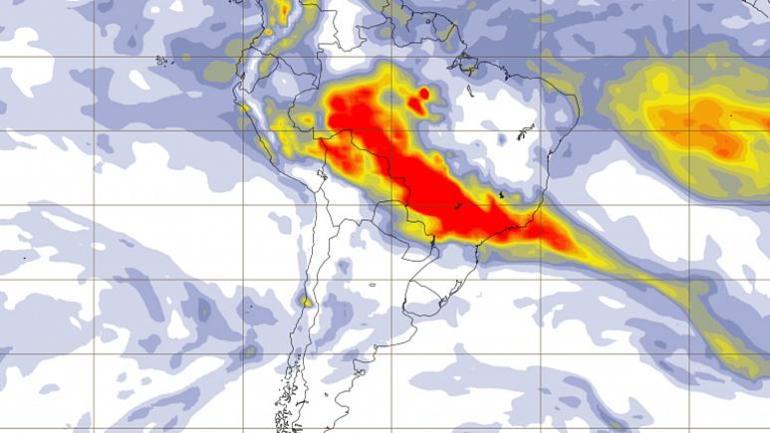 Humos por los incendios en el Amazonas