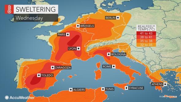 ola de calor en Europa en el verano de 2019