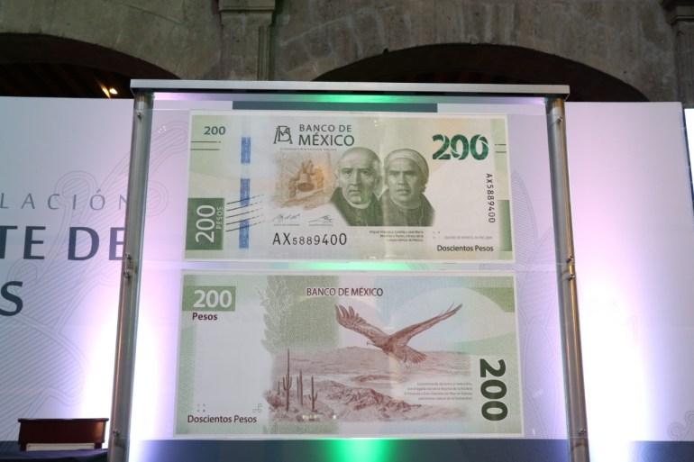 Presentación nuevo billete 200 pesos México