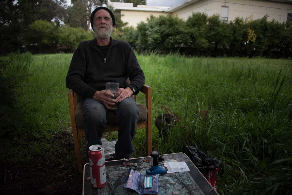 LOOKING BACK Palo Alto resident and Paly graduate John Waters reminisces on years of being hidden from most of the affluent city. As a vehicle dweller, Waters has an untraditional lifestyle based in an empty lot.