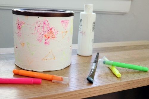 toddler craft coffee can