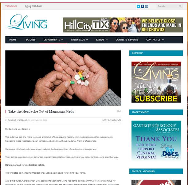 Managing Medications Article