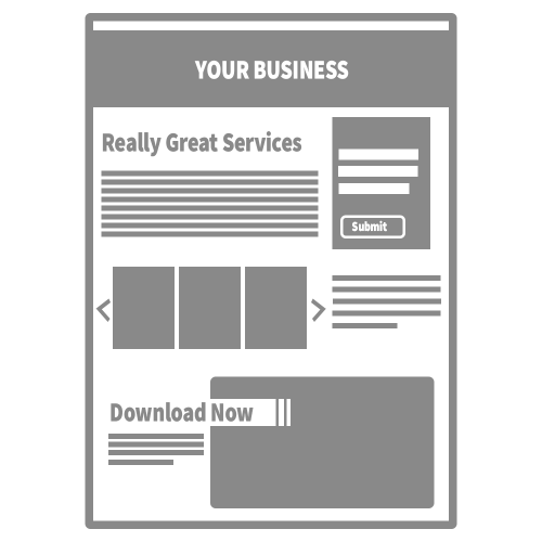 Marketing Campaign Graphic: Landing Page