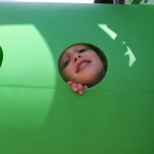 toddler at the park