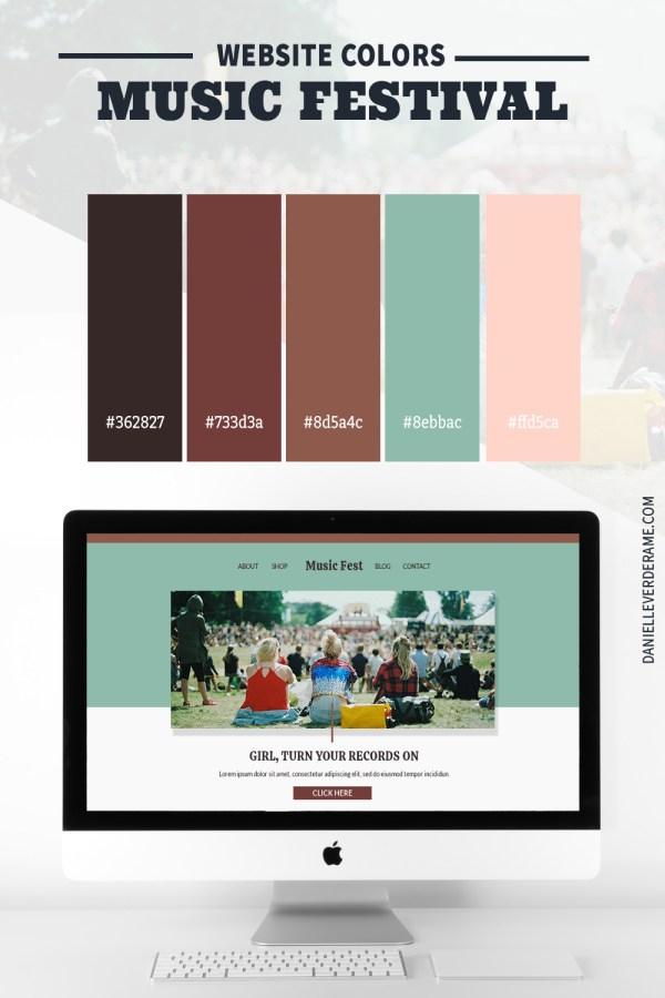 Music Festival Website Color Combinations