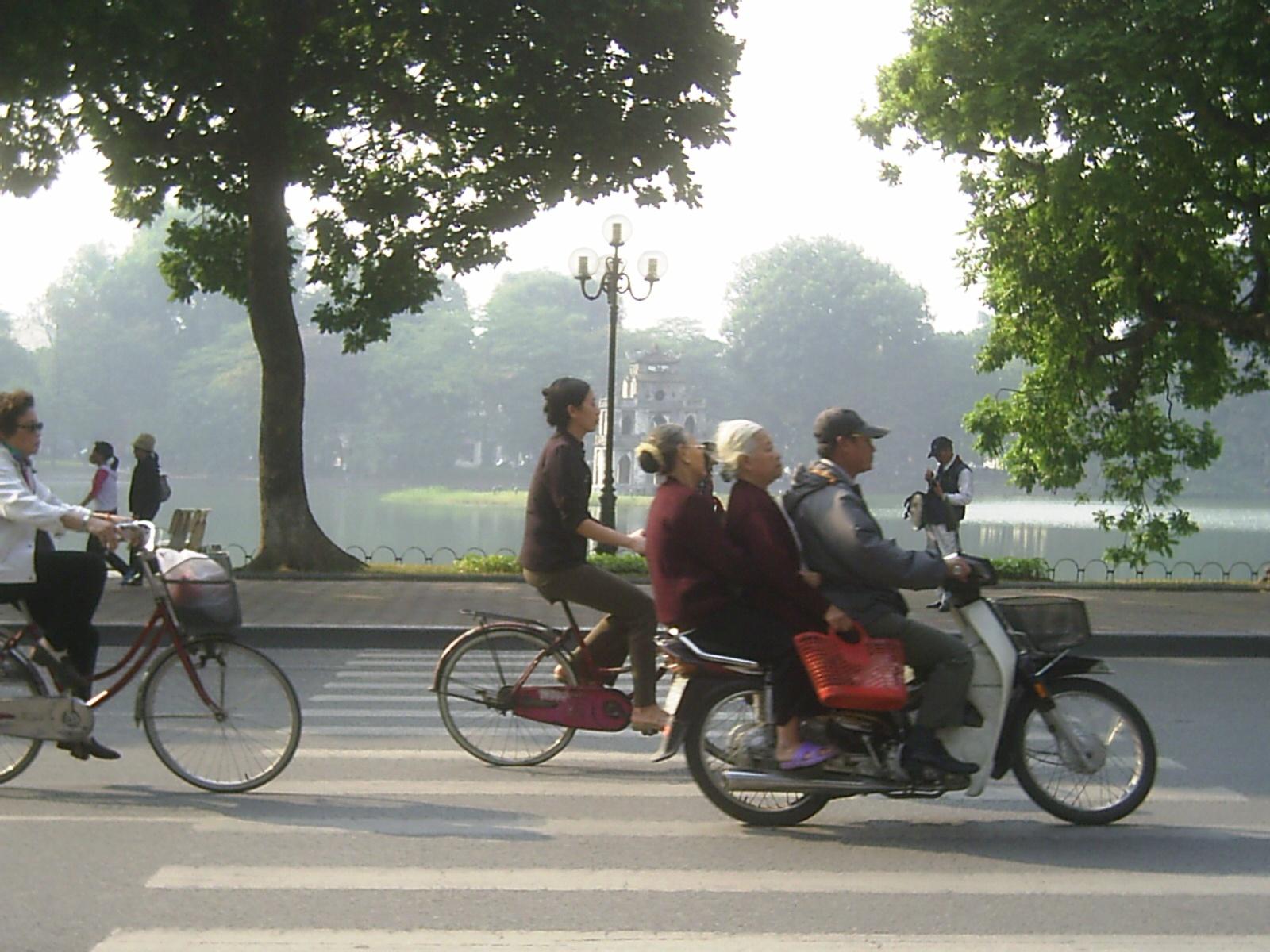 Hanoi al atardecer