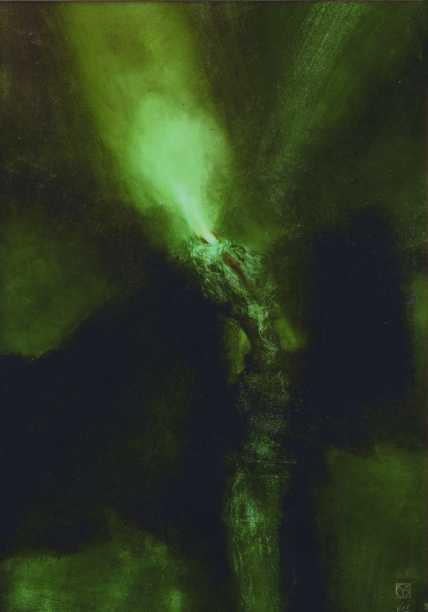 A kígyó, vegyes technika, 100x70 cm, 1998