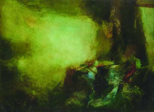 Utolsó menedék, vegyes technika, 106x84 cm, 1997