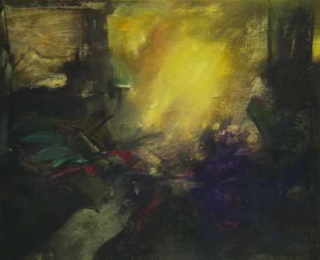 Viharvert idők, olaj, vászon, 100x120 cm, 1995
