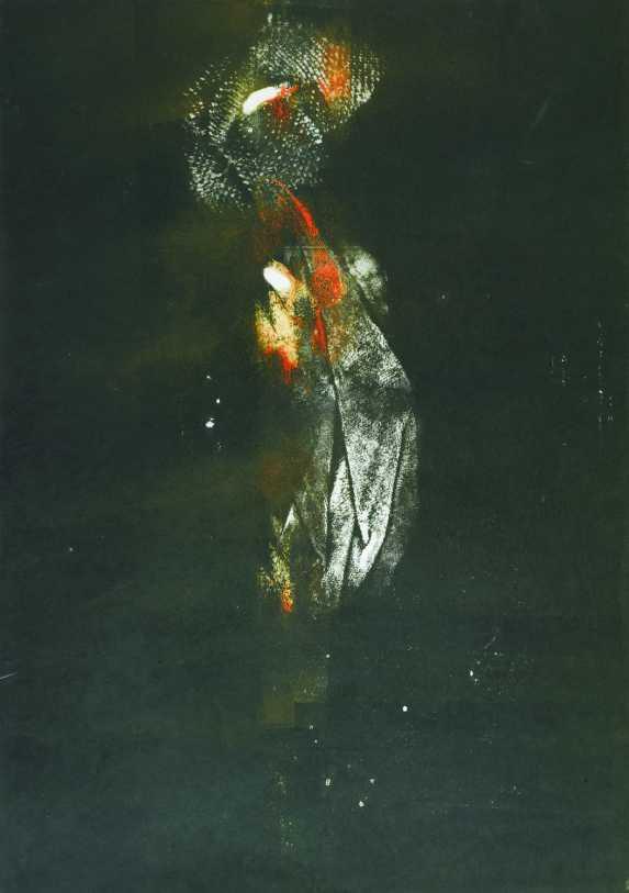 Memento, monotípia, 70x50 cm, 1987