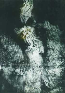 Éjjeli látogató I., monotypia, 70x50 cm, 1990