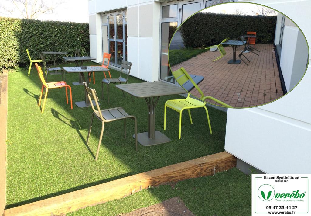 Gazon synth tique terrasse bordeaux arcachon for Recouvrir une terrasse carrelee