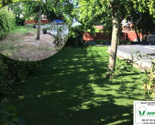 jardin Verebo en gazon artificiel à Mérignac