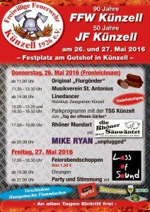 90 Jahre FFW und 50 Jahre JF Künzell