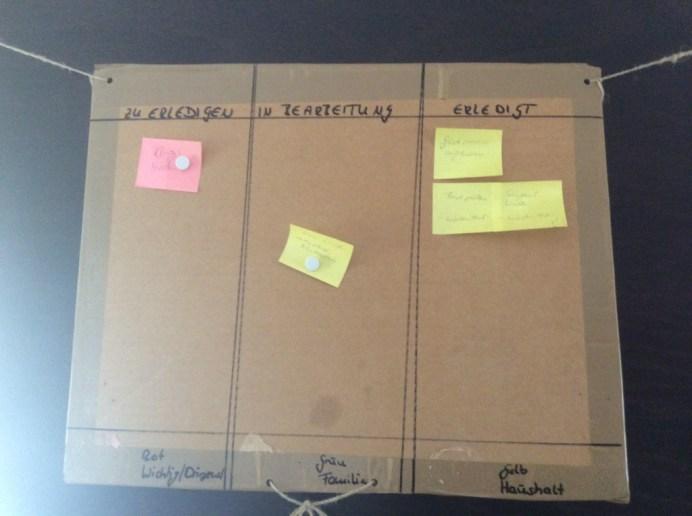 Kanban-Board, weniger hübsch - aber effektiv