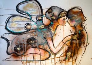 Verena Waddell visual artist print Touch