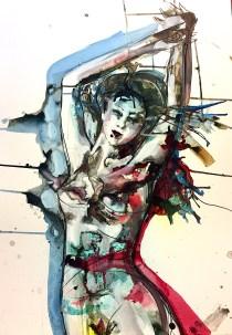 Verena Waddell ink original pang