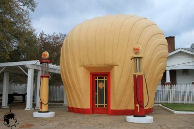Shell Service Station in Winston-Salem, North Carolina