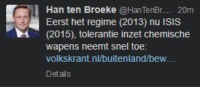 Han ten Broeke blijft er aan vasthouden