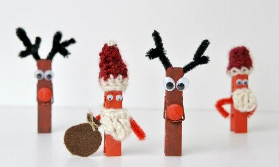 Waescheklammern weihnachtlich verbasteln