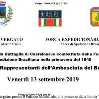 Visita dei Rappresentanti dell' Ambasciata del Brasile a Vergato il 13 settembre 2019