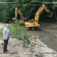 Riprendono i lavori a Castel dell'Alpi: una passerella consentirà di attraversare il lago