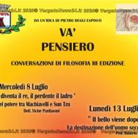 """Castel d'Aiano - """"VA' PENSIERO"""" Conversazioni di Filosofia III Edizione"""