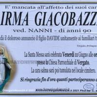 E' mancata Irma Giacobazzi - Raccontò vicende di conti, contesse e una miss Italia di Vergato