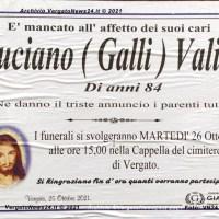 Luciano (Galli) Valisi è mancato, lo piange la comunità di Vergato