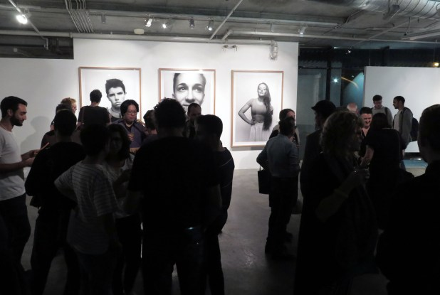 April at Verge opening night. Image by Verge Gallery.
