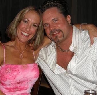Chris Potoski with his wife, Brandi Love