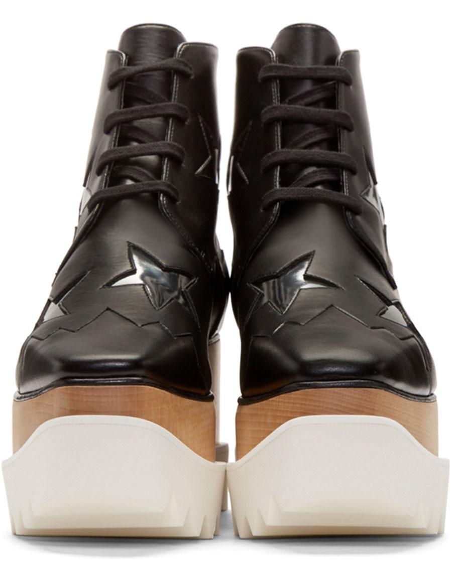 STELLA MCCARTNEY Black Star Platform Elyse Boots