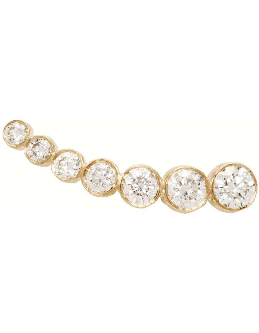 SOPHIE BILLE BRAHE Gold Petit Croissant de Lune Single Earring