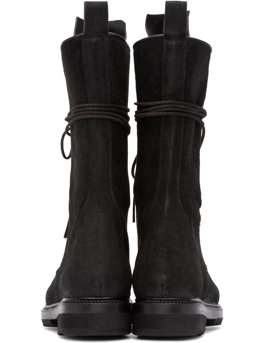 RICK OWENS Black High Chukka Boots