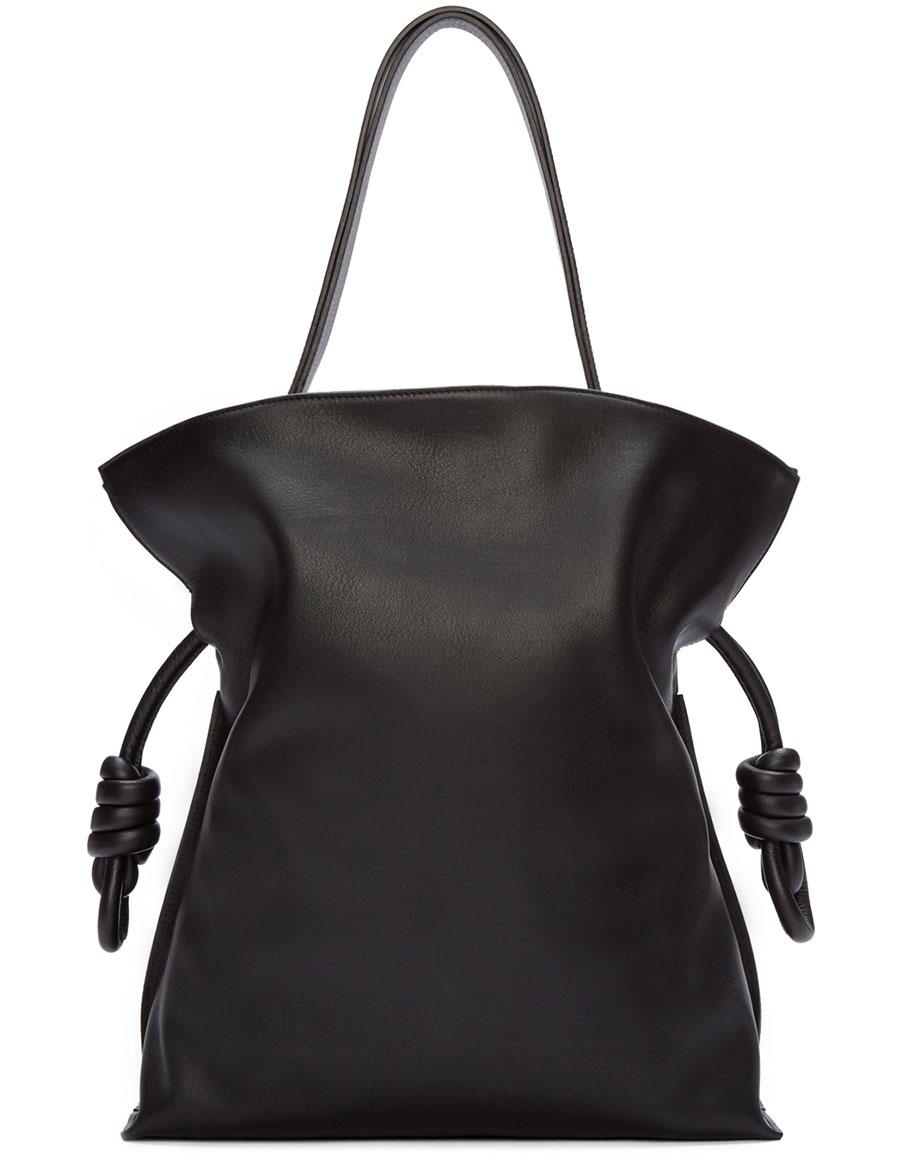 LOEWE Black Leather Flamenco Knot Bag