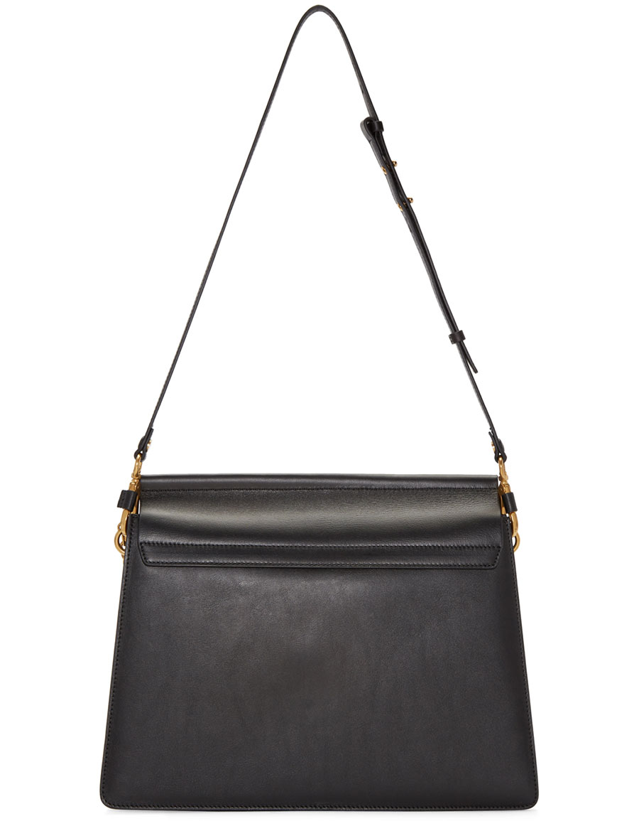 CHLOÉ Black Tapestry Medium Faye Bag