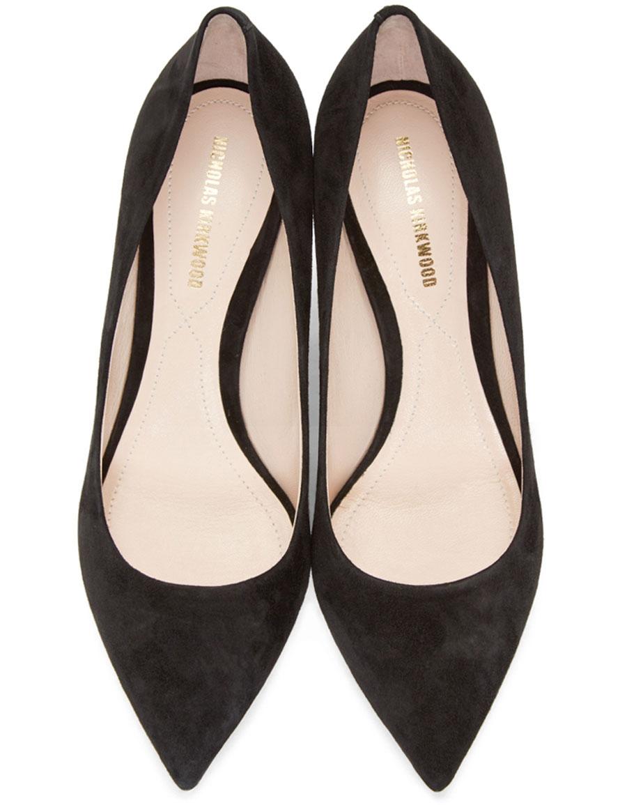 NICHOLAS KIRKWOOD Black Maeva Pearl Heels