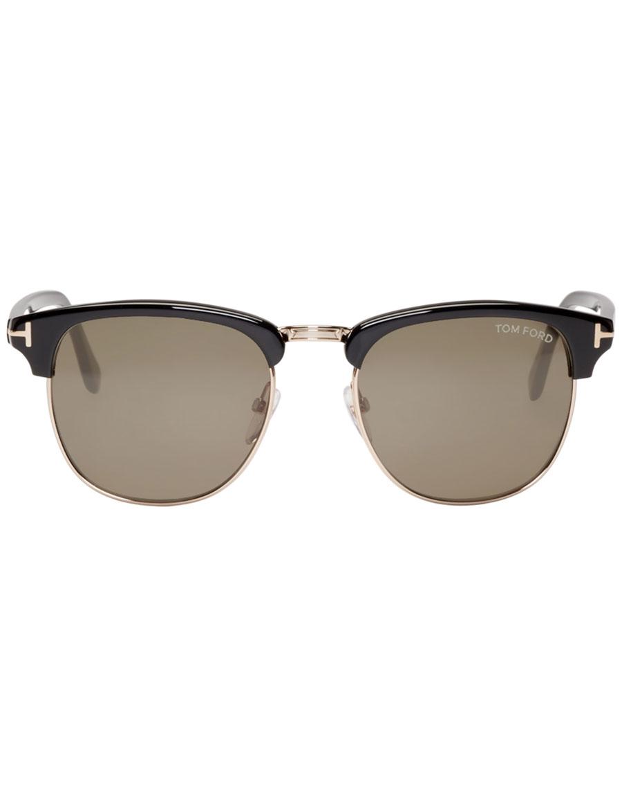 TOM FORD Black & Gold Henry Sunglasses