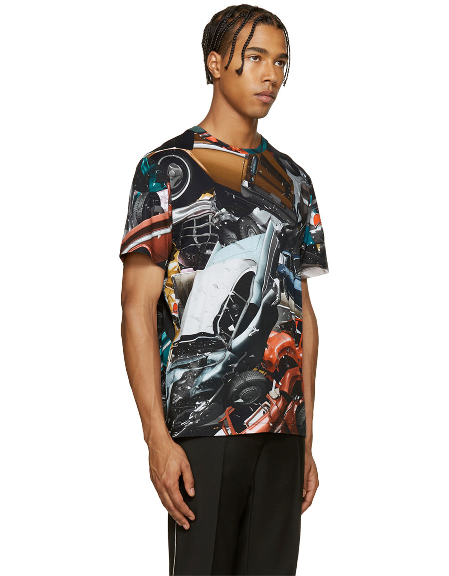 CHRISTOPHER KANE Multicolor Car Crash T Shirt