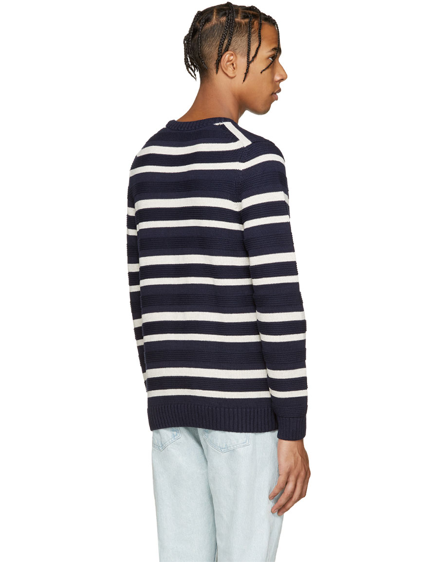 A.P.C. Navy & Cream Transat Sweater